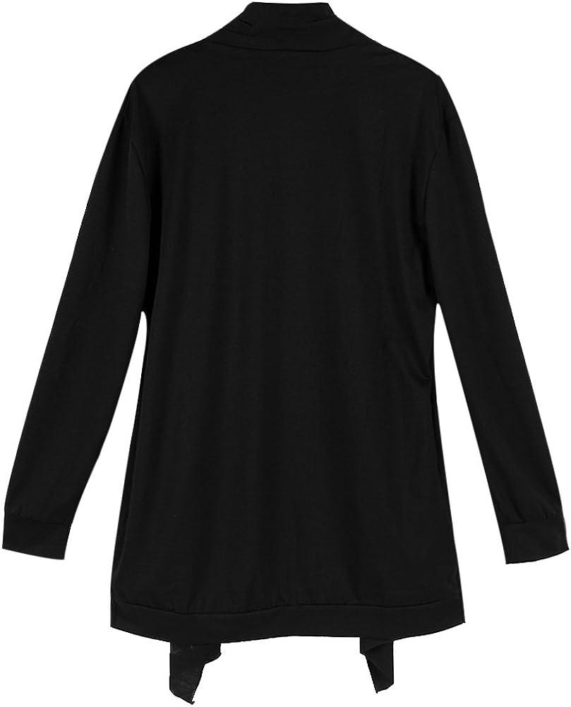 Chen Men Fashion Kintted Shawl Collar Open Side Pockets Hem Casual Long Cardigan