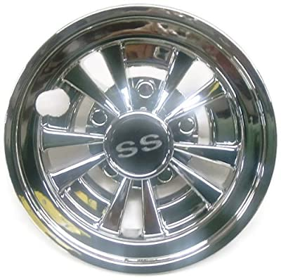 "GOLF CART SS WHEEL COVERS HUB CAPS YAMAHA CLUB CAR EZ-GO PAR CAR 8"" (Set of 4)"