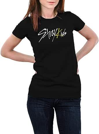 Black T-shirt Stray Kids design - Women