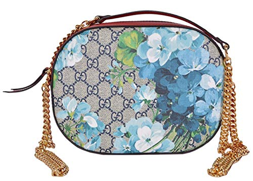 (Gucci Women's GG Blooms Coated Canvas Small Crossbody Purse)