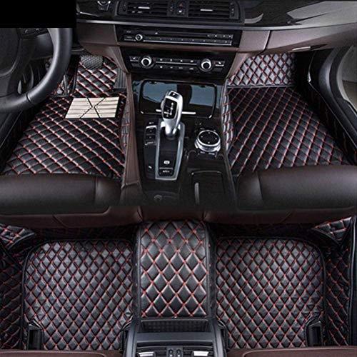 for BMW 3 Series E90 E91 E92 E93 F30 F31 F35 318i 320i 325i 328i 330i 335i 320d 325d 2005 2006 2007 2008 2009 2010 2011 2012 Car-Styling Custom Car Floor Mats (Black red) ()