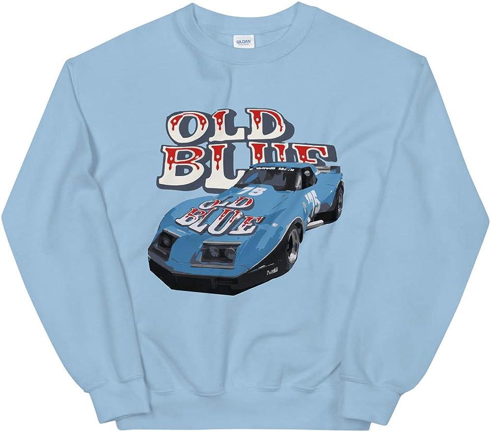 JG Infinite 1975 Greenwood Chevy Corvette Old Blue Race Car Unisex Sweatshirt