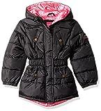 Pink Platinum Big Girls' Pop Anorak Jacket, Black, 10/12
