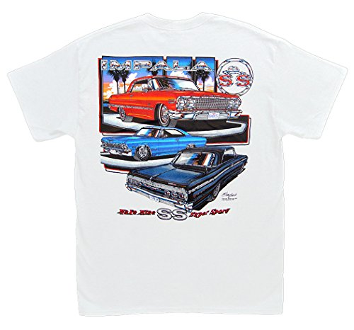 Make Mine SS Impala T-Shirt: XXL White - Chevrolet Chevy 1963 1964 1965 ()