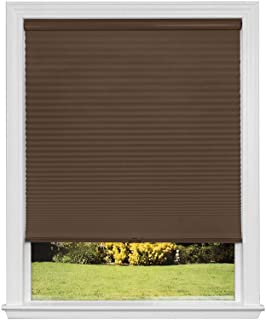 product image for Artisan Select No Tools Custom Cordless Cellular Blackout Shades, Mocha, 57 3/8 in x 72 in