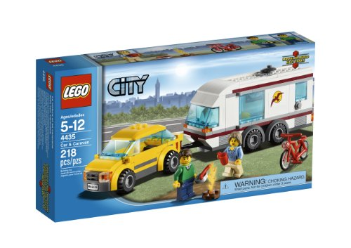 LEGO City Town Car and Caravan 4435 (Lego City Great Vehicles Van And Caravan)