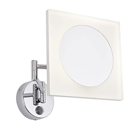 milano teifi square 3w led wall mounted bathroom vanity mirror with rh amazon co uk
