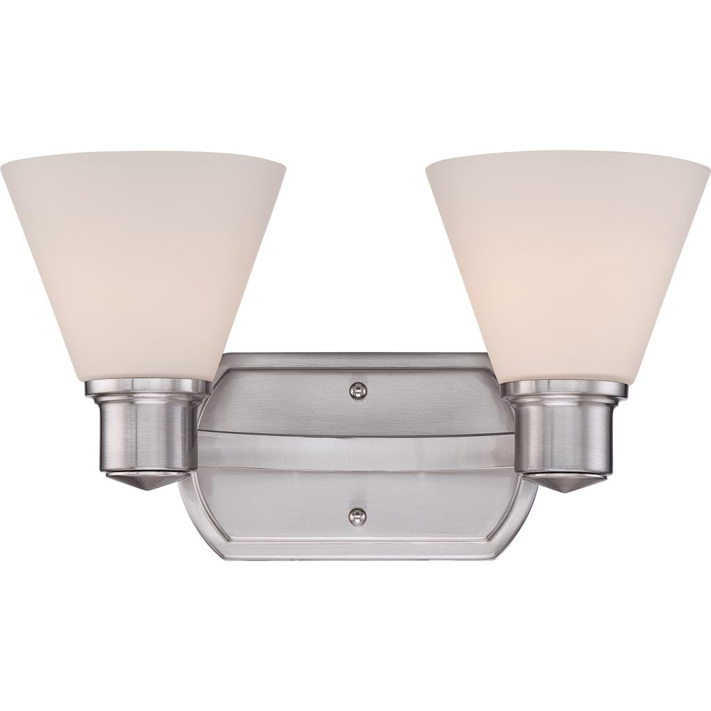 Quoizel ayr8602bn ayers with brushed nickel finish bath for Brushed nickel bathroom lighting fixtures