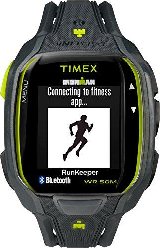 Timex Men's TW5K84500 Ironman Run x50+ Charcoal/Lime Resin Strap (Timex Gps)