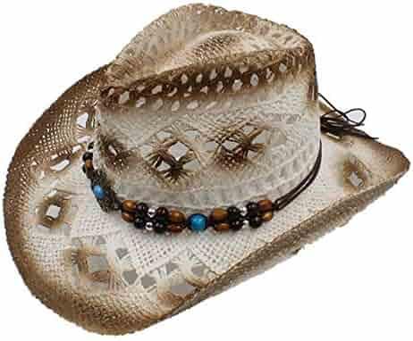 6e9bf871 JINRMP 100% Handwork Summer Women's Men's Hollow Western Cowboy Hat  Gentleman Western Word Cowgirl Jazz