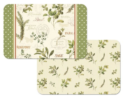 Herbs-Reversible-Washable-Vinyl-Placemats-Set-of-Four