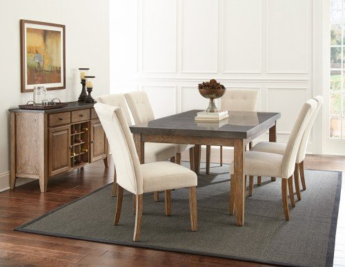 Steve Silver Debby Tufted Parson Dining Side Chair in Beige