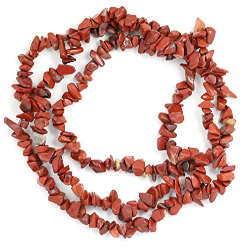 jennysun2010 Natural Gemstone 4-8mm Chip Beads 32'' - 35'' Red Jasper Hematite Turquoise Malachite Coral 1 Strand for Bracelet Necklace Earrings Jewelry Making Crafts Design - Coral Necklace Malachite
