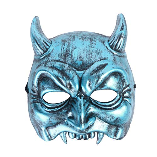 BESTOYARD Halloween Easter Horrible Ghost Style Face Mask Cosplay Mask Horror Costume Devil Mask Decoration Props (Blue) ()