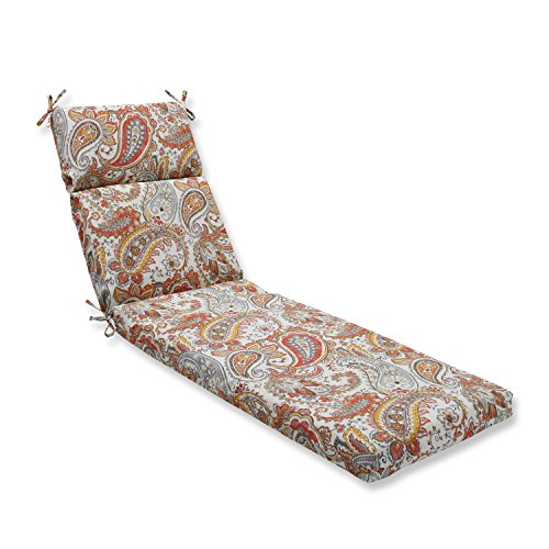 picture of Pillow Perfect Outdoor/Indoor Hadia Sunset Chaise Lounge Cushion