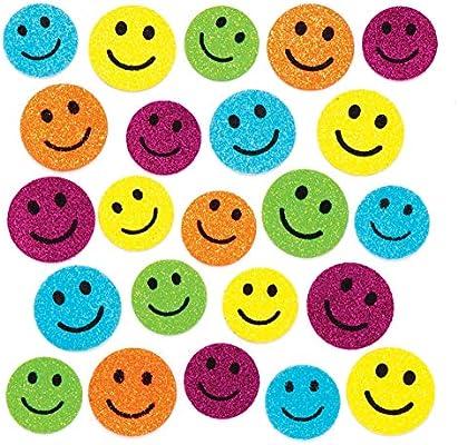 Baker Ross- Pegatinas de espuma y purpurina con caras divertidas (Pack de 100) - Pegatinas de espuma con caras divertidas para decorar libros de recortes: Amazon.es: Juguetes y juegos