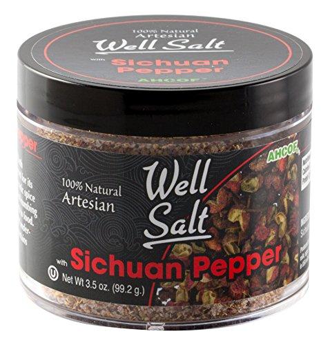 AHCO Foods 100% Natural Artesian Well Salt, Sichuan Pepper, 3.5 Ounce ()