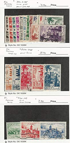 French Morocco, Postage Stamp, 221//247 Mint & Used, 1947-49, JFZ
