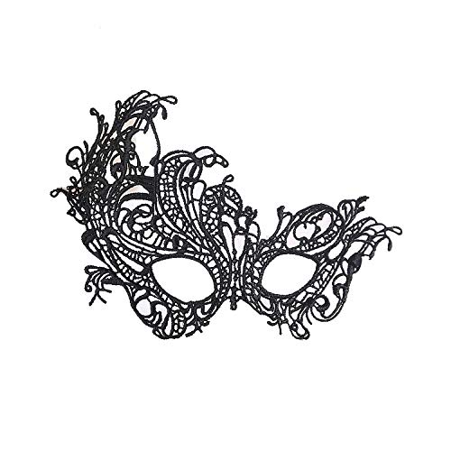 LBAFS Halloween Lace Styling Phoenix Openwork Veil Mask Sexy Party Supplies Black Ball Nightclub Eye Mask