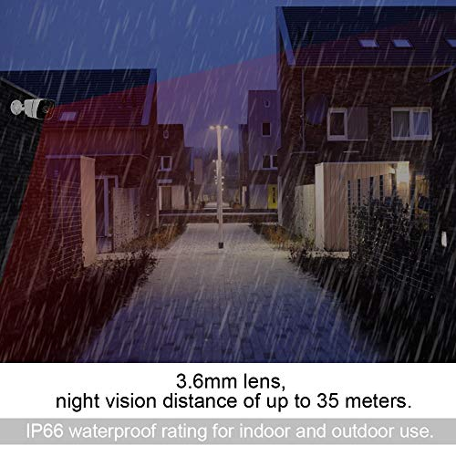 4-in-1 Outdoor Security Camera - HD Bullet Camera with Waterproof, Night Vision for Home Security(2PM PAL)