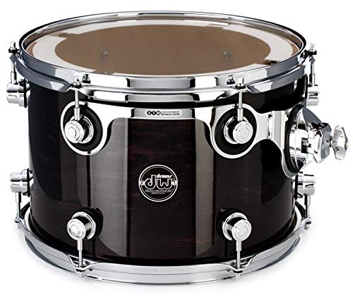DW Performance Series Mounted Tom - 9'' x 13'' Ebony Stain Lacquer