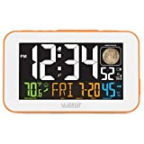 La Crosse Technology 617-1485O LED Color Alarm Clock with USB Charging Port, Orange