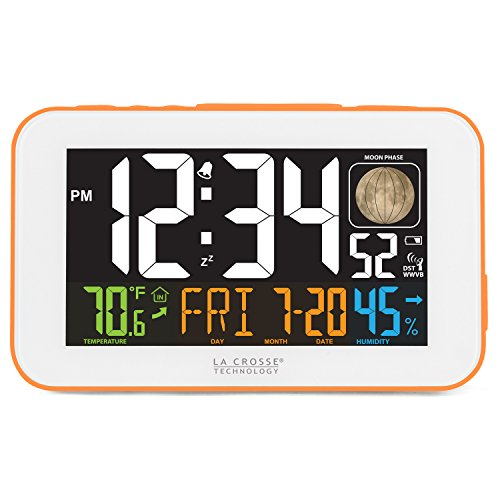 La Crosse Technology 617-1485O LED Color Alarm Clock with USB Charging Port, ()