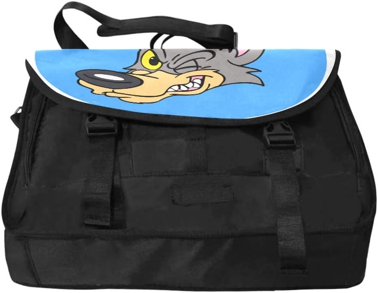 Travel Laptop Bag Cartoon Cute Wolf Multi-Functional Laptop Computer Bag Fit for 15 Inch Computer Notebook MacBook