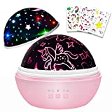 Gifts for 1-12 Years Old Girls,Unicorn Night Light,Star Projector Lamp,Girls Toys for 2 3 4 5 6 7 8 Years Old,Kids Toys,Birthday Gifts for Kids(Pink)