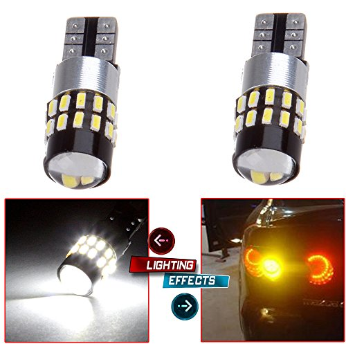 cciyu 2x White 6000K Epistar Bulb T10 T15 2825 168 W5W 3014 30SMD LED Light Replacement fit for 1997 1998 1999 Acura CL Front Side Marker Light Rear Side Marker Light ()
