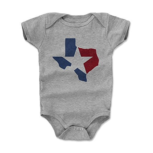 500 LEVEL Texas Themed Baby Clothes, Onesie, Bodysuit - 3-6 Months Heather Gray - Texas State Star (Onesie Baby In Texas Made)