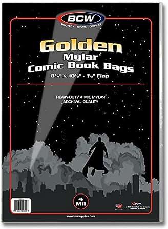 Amazon.com: BCW Comic Bolsas de Mylar 4 mil de oro ...