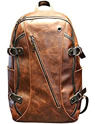 West Beauty 15 Inch leather Casual Laptop/Macbook/Tablet/Notebook Computer Messenger Backpack School College Travel...