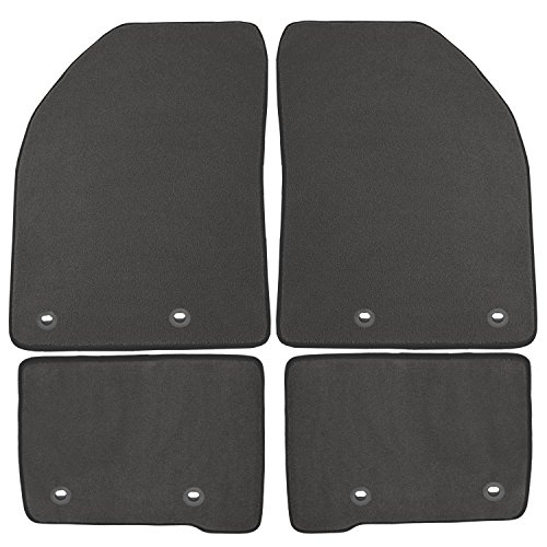 - Coverking Front and Rear Floor Mats for Select Audi Q7 Models - 40 Oz Carpet (Gray)