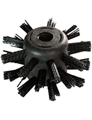 100mm Drain Brush Head - Drain Rod Attachment - Remove Blockages, Cleans