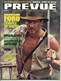 Prevue Magazine HARRISON FORD Michael Pare LAURENE LANDON Diane Lane GHOSTBUSTERS Temple of Doom GREYSTOKE July 1984 (Mediascene Prevue)