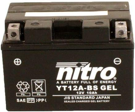 Batterie 12 V 10 Ah YT12A-BS Gel Nitro 51013 GSX 1300 R Hayabusa WVA1 99-07