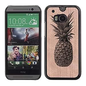 - / Pineapple Weed Cannabis Fruit - - Funda Delgada Cubierta Case Cover de Madera / FOR HTC M8 One 2 / Jordan Colourful Shop/