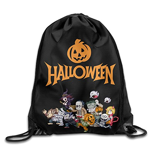 Sokie Happy Halloween Gym Drawstring Backpack/Travel Bag (Halloween Costumes Seattle)