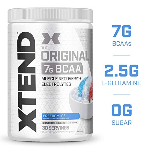 XTEND Original BCAA Powder Freedom Ice | Sugar Free Post Workout Muscle Recovery Drink with Amino Acids | 7g BCAAs for Men & Women| 30 Servings