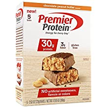 Premier Protein 30 g Protein Bar, Chocolate Peanut Butter, 5 Count