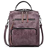 SiMYEER Women's Leather Fashion Backpack Purse Rucksack Waterproof Shoulder Bag School Casual Daypack for Girls