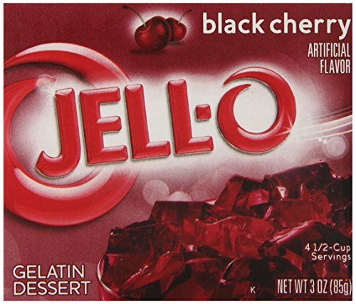 (Jell-O Gelatin Dessert, Black Cherry, 3-Ounce Boxes (Pack of)