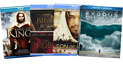 Faith & Family 5-Film Ultimate Collection - King of Kings/ The Bible: In the Beginning/ The Robe/ Exodus: Gods and Kings/ Son of God (Blu-ray + DVD + Digital HD)