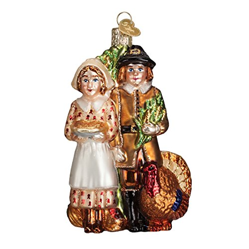 Old World Christmas Pilgrim Thanksgiving Glass Blown Ornament