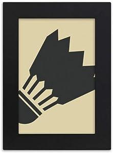 DIYthinker Badminton Sport Simple Geometry Pattern Desktop Photo Frame Picture Display Art Painting Exhibit