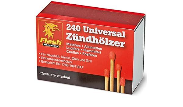 Flash 10 x 240 universal Cerillas Cigarrillos parrilla Chimenea Chimenea Maderas de cerillas Cigarrillos De Parrilla kaminhoelzer Seguridad Cerillas: Amazon.es: Jardín