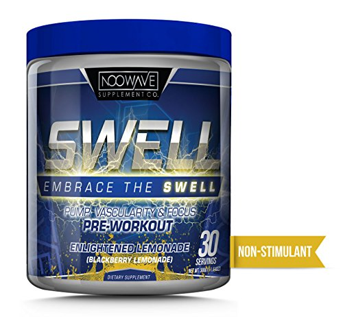 NooWave Supplement Co. SWELL - Non Stimulant Pump, Vascularity & Focus Pre Workout - Infused With Nootropics - Efficacious Dosages of L-Citrulline, Hydromax, and Agmatine - 30 Servings