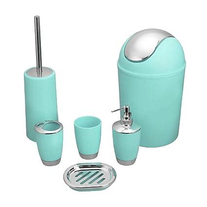 yiyida 6 de pieza luxuriös Set (de plástico) baño accesorio Juego de  botellas de 44d819ca3c14