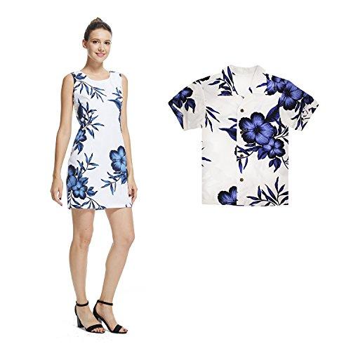 50d79abe4 Hawaii Hangover Matching Mother Son Hawaiian Luau Women Dress Boy Shirt  Shorts White Navy Floral S